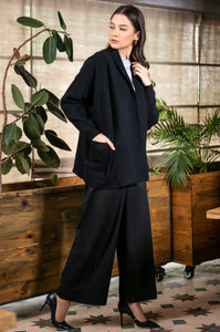 Black Beauty Open Front Pocket Cardigan