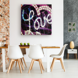 """Love Lights Up The Room"" Square Canvas"