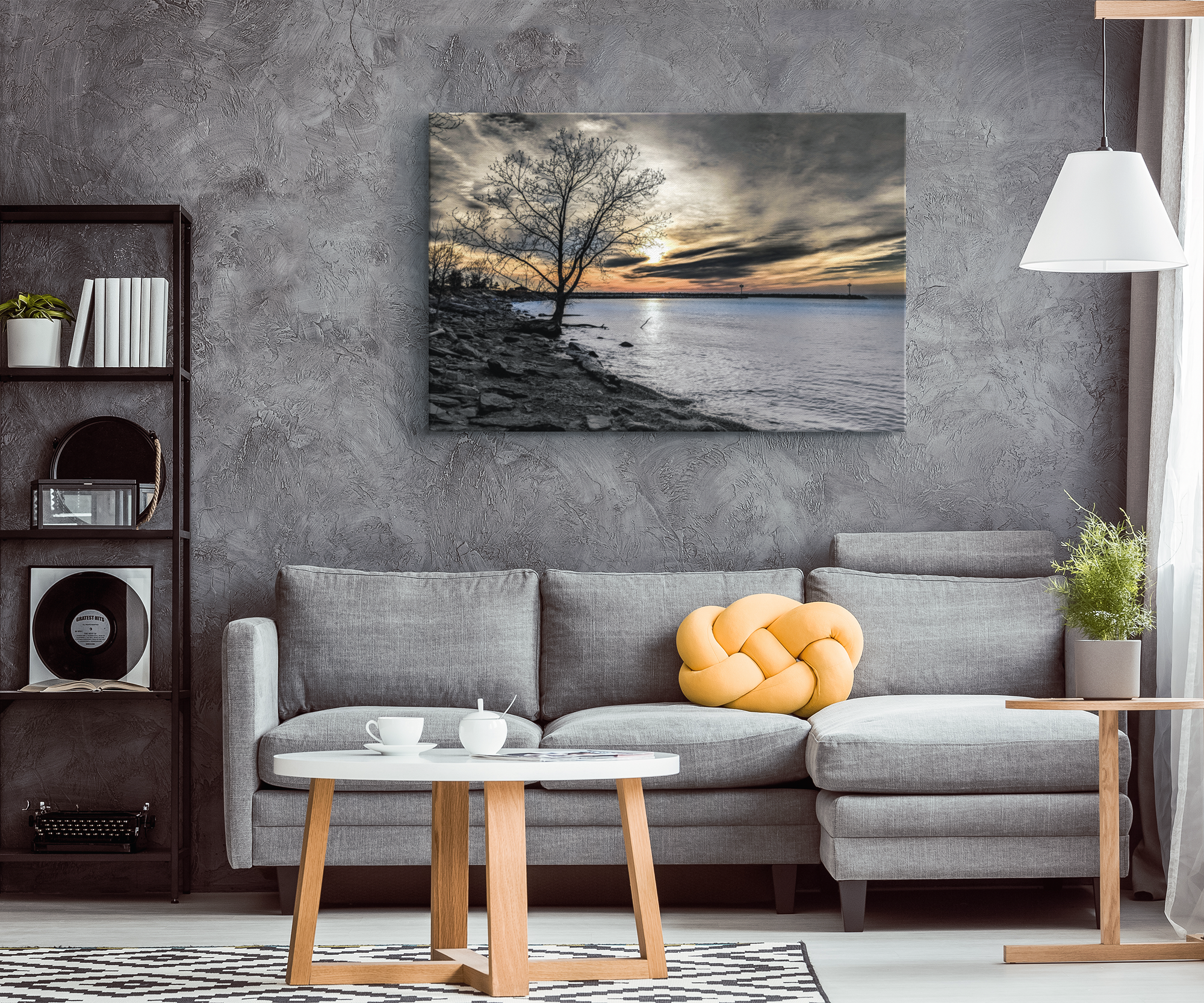 """Moody Sunset"" Canvas Wrap"