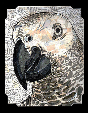 "Collage, ""African Gray"""