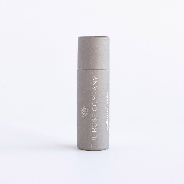 The Rose Company Vegan Lip Balm, Vanilla Cocoa