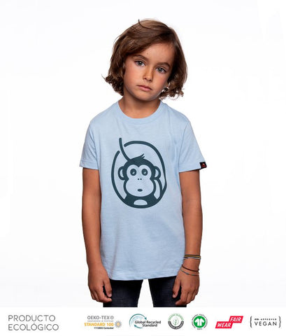 CAMISETA ICONIC NIÑO // Sky Blue