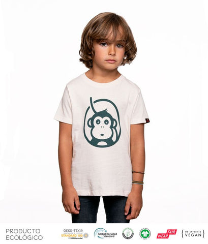 CAMISETA ICONIC NIÑO /// White