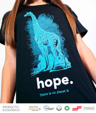 CAMISETA ANIMAL HOPE MUJER /// Black