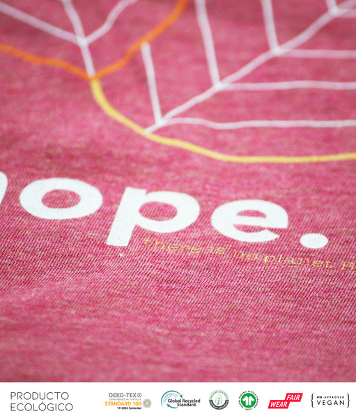 CAMISETA PLANET HOPE MUJER /// HeatherCranberry
