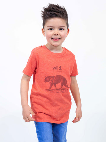 CAMISETA ANIMAL WILD NIÑO /// Heather Red