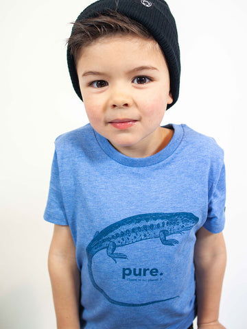 CAMISETA ANIMAL PURE NIÑO /// Heather Blue
