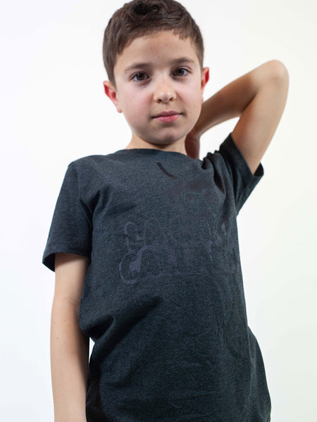 CAMISETA ICONIC NIÑO /// Black Heather