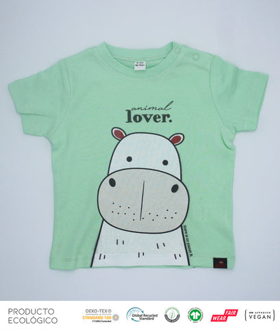 CAMISETA ANIMAL LOVERS HIPO BEBÉ  /// Mint
