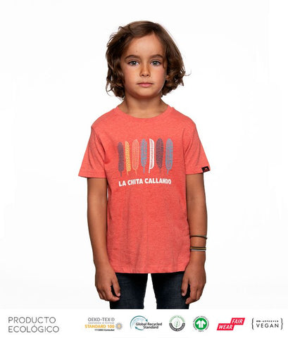 CAMISETA PLANET CARE NIÑO /// Mid Heather Red