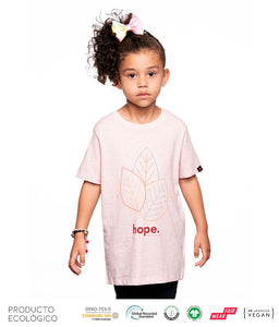 CAMISETA PLANET HOPE NIÑO /// Cream Heather Pink