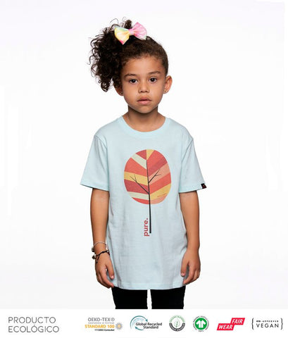 CAMISETA PLANET PURE NIÑO /// Caribean Blue