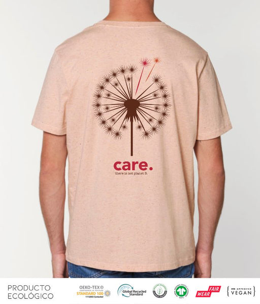 CAMISETA PLANET CARE UNISEX /// HeatherNeppyPink