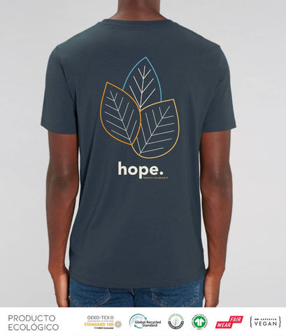 CAMISETA PLANET HOPE UNISEX /// IndiaInkGrey