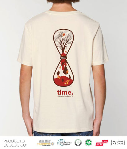 CAMISETA PLANET TIME UNISEX /// NaturalRaw