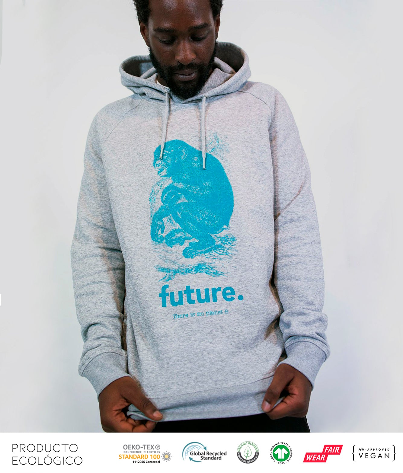SUDADERA ANIMAL FUTURE UNISEX /// HeatherGrey