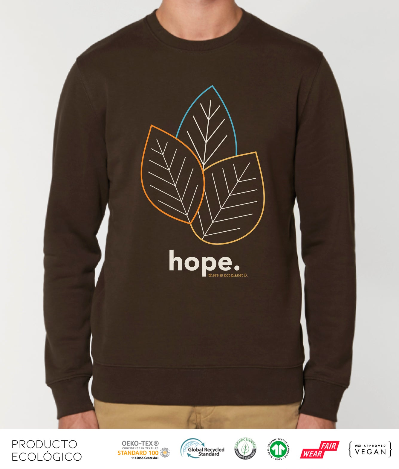SUDADERA PLANET HOPE UNISEX /// Deep Chocolate