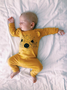 Mustard sleepsuit, Pip the Hedgehog
