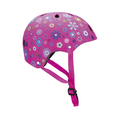 Casco junior flores rosa - Petit Abú