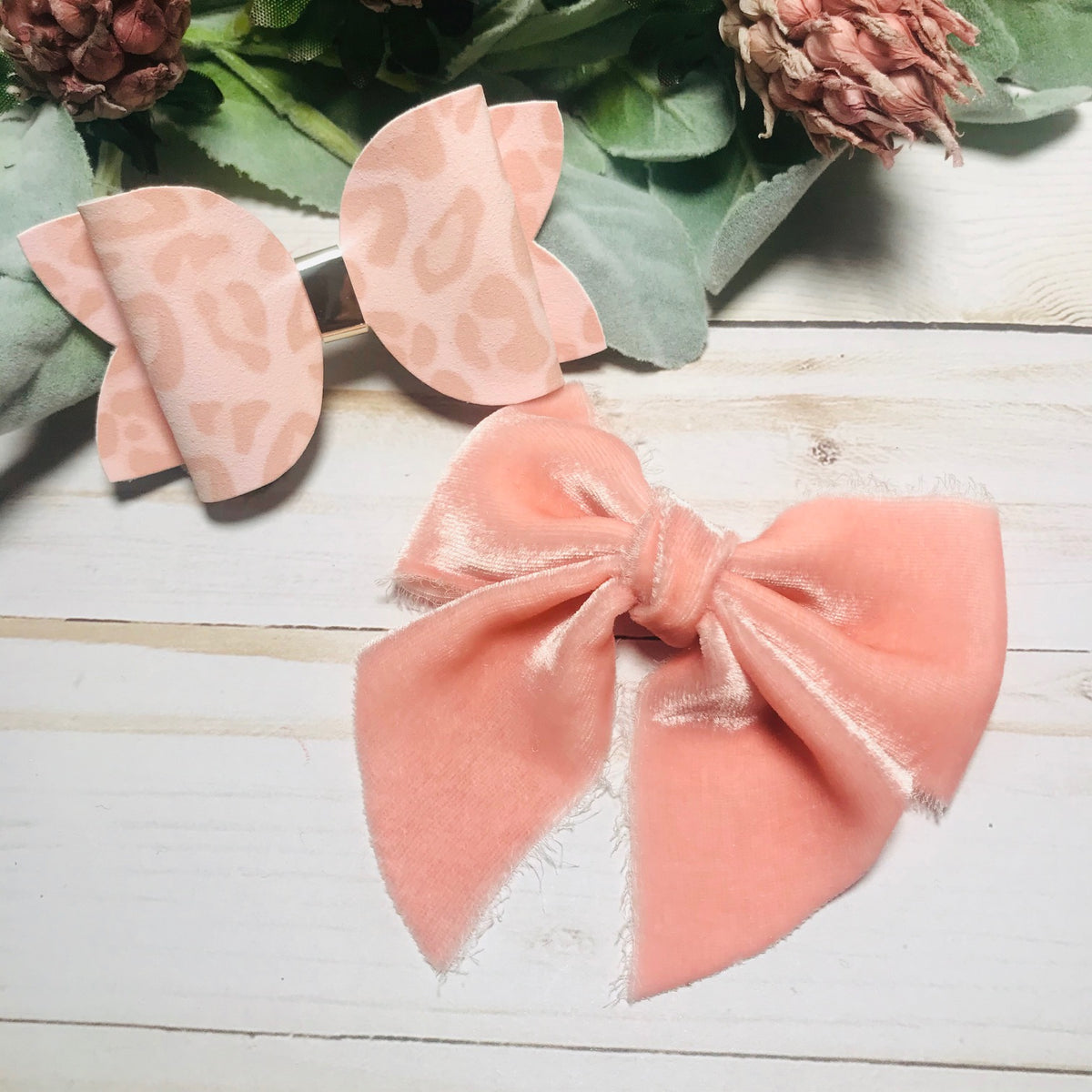 crushed velvet bow saphire shimmer bow VALENTINE/'S CRUSH BOWS Christmas suede headband suede faux leather bows