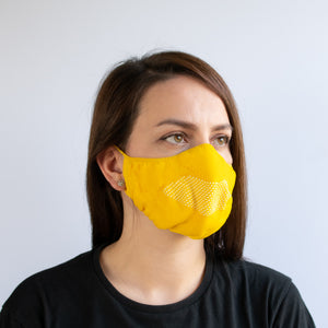 Face Mask - Yellow / White
