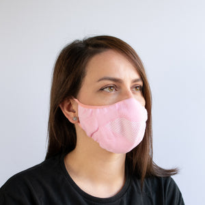 Face Mask - Pink / White