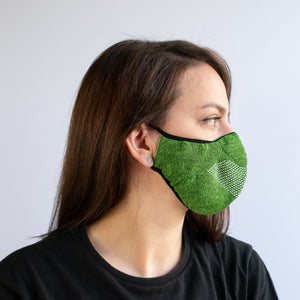 Face Mask - Green Marl / White