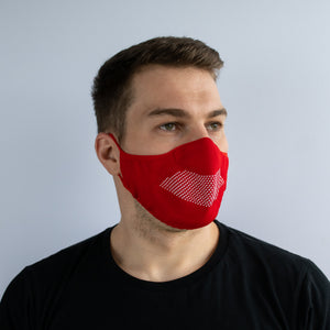 Face Mask - Red / White
