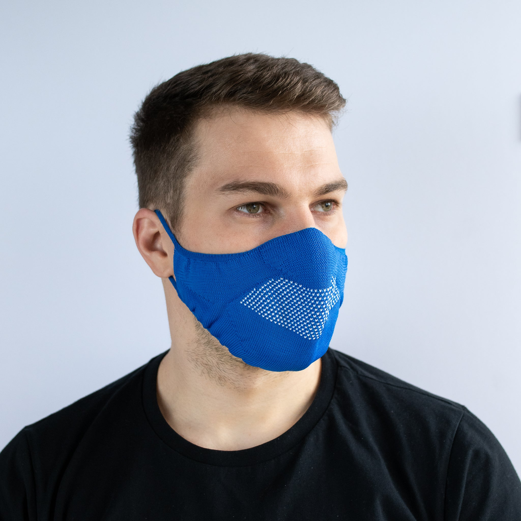 Face Mask - Royal Blue / White