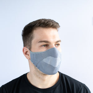 Face Mask - Grey / White