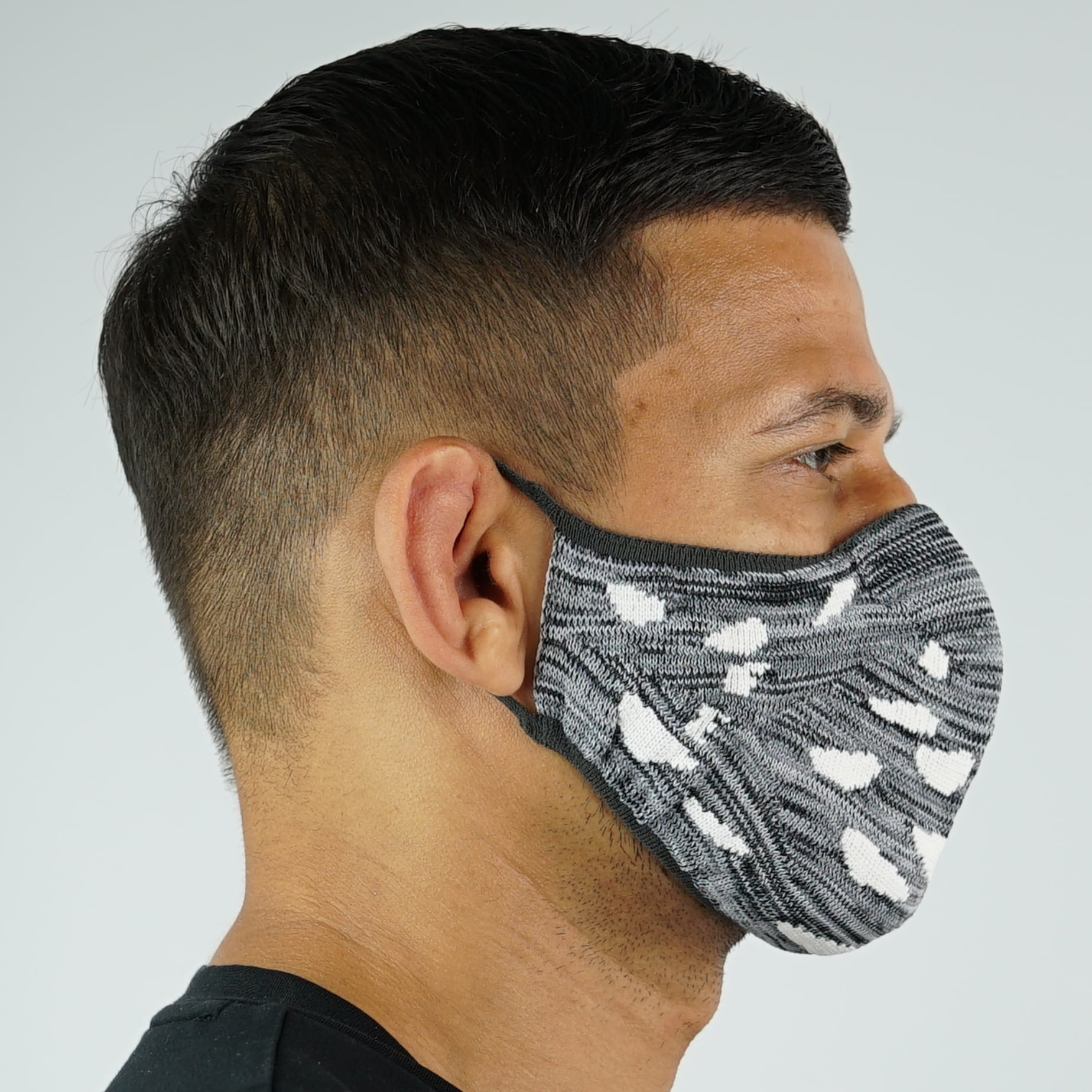 Camo Face Mask - Grey