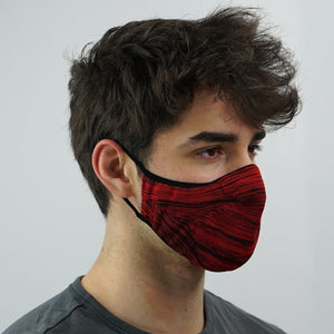Prime Knit Face Mask - Crimson Black
