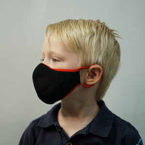 Kids Face Mask - Scarlett Black