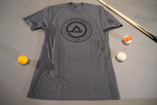 Grey and Black soft shirt with AutotopiaLA logo