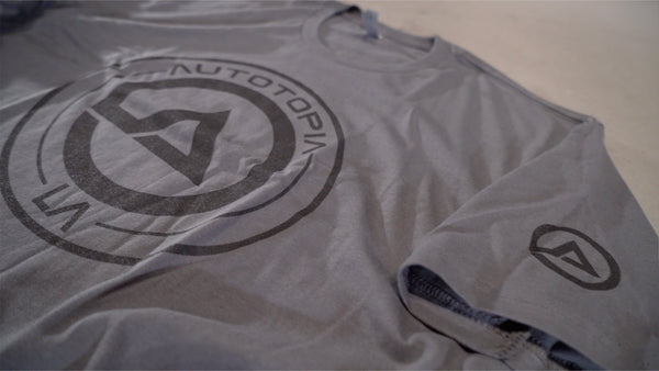 Core Crew Shirt // Autotopia LA  (Grey / Black Logo)
