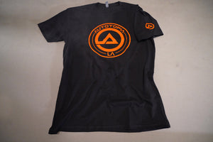 Black and Orange soft shirt with AutotopiaLA logo