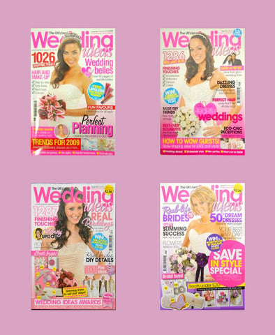 Wedding magazines using our bouquets on the front cover