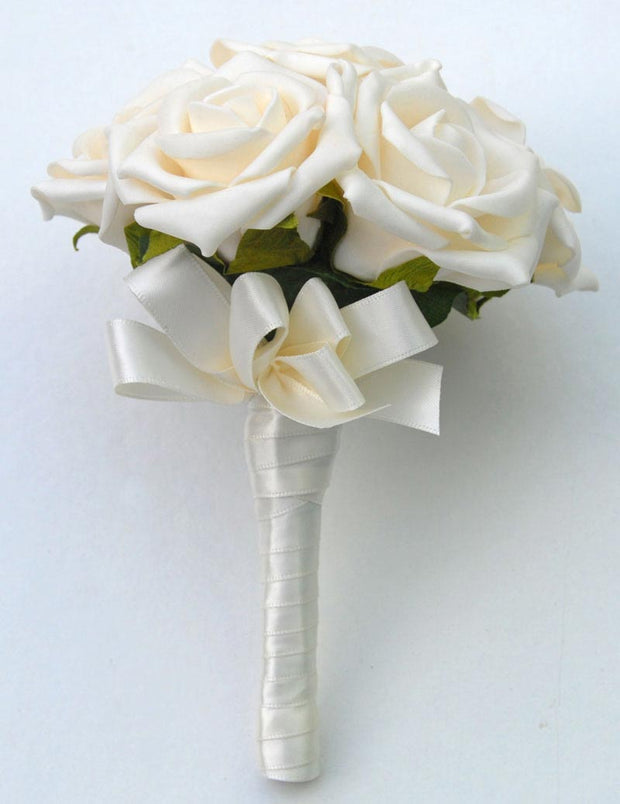 Flower Girls Cream Foam Rose Childrens Wedding Posy
