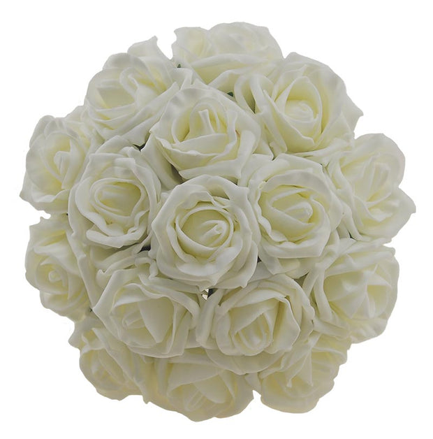 Bridesmaids Ivory Foam Rose Wedding Posy Bouquet