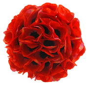 Brides Artificial Bright Red Silk Anemone Wedding Bouquet