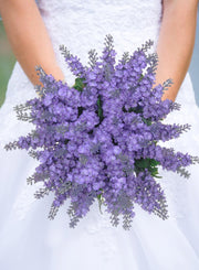 Brides Lilac Silk Lavender Cottage Garden Style Wedding Bouquet