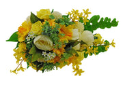 Brides Yellow Forsythia, Rose, Gerbera & Ivory Peony Wedding Shower Bouquet