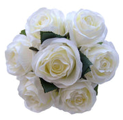 Brides Ivory Adore Silk Rose Long Handle Wedding Bouquet