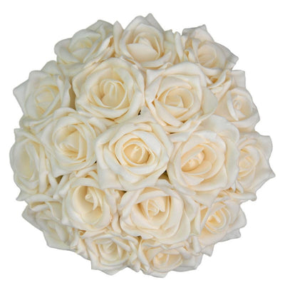 Bridesmaids Cream Foam Rose Wedding Posy Bouquet