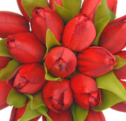 Bridesmaids Deep Red Silk Tulip Wedding Posy Bouquet