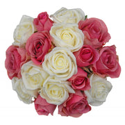 Vintage Pink & Ivory Rose Maids Wedding Posy Bouquet