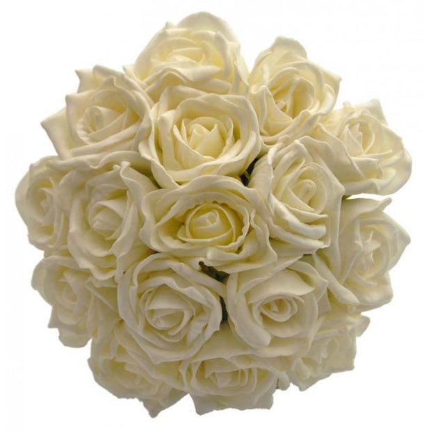 Bridesmaids Lemon Foam Rose Wedding Posy Bouquet