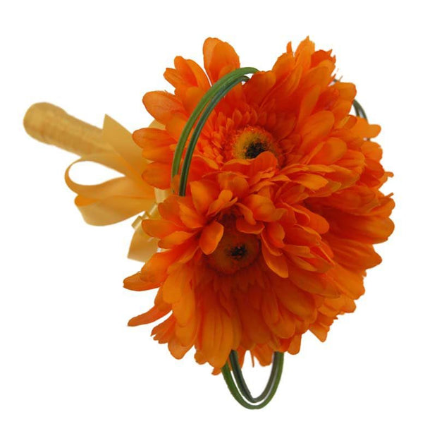 Flower Girls Orange Silk Gebera Bouquet Posy Bouquet
