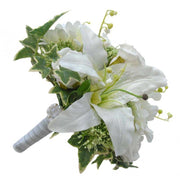 Bridesmaids Silk Lily, Elderflower, Gerbera & Rose Wedding Bouquet