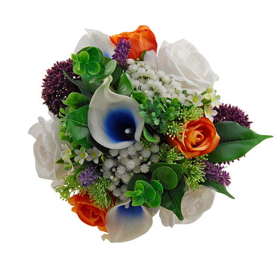 Bridesmaids Calla lily, Lavender, Orange Rose & Allium Posy Bouquet